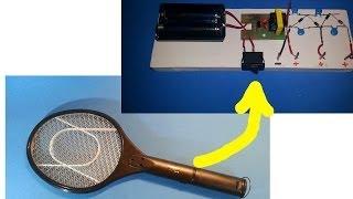 getlinkyoutube.com-Tutorial: Cómo hacer una fuente de alto voltaje a partir de una raqueta eléctrica.