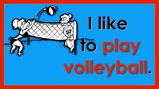 I like to... | Sports Vocabulary | Easy English Conversation Practice | ESL