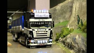 getlinkyoutube.com-Making off tamiya Scania R500 V8 (1:14)