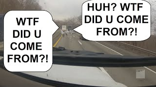getlinkyoutube.com-RUBBING IS TRUCKING part 3: DayDreaming Bobtail SideSwipes FedEx Truck Who wasnt Paying Attention