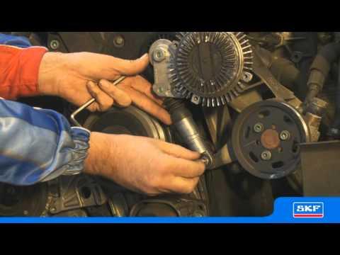 SKF Kit de courroie multi-V avec poulie roue libre d'alternateur VKMAF 31020-1 Volkswagen 1.9 TDI