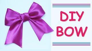 getlinkyoutube.com-DIY Make Simple Easy Bow of satin ribbons //  DIY beauty and easy