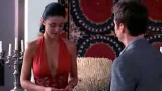 "getlinkyoutube.com-Emmanuelle Chriqui - ""Entourage"" Red Dress Cleavage"