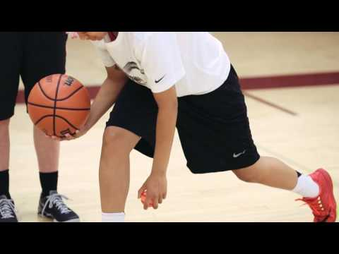 How to Beat Your Defender Off the Dribble Basics - Step 8- Between the Legs Dribble