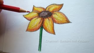 getlinkyoutube.com-Zeichnen lernen: Blume zeichnen - Blumen malen lernen