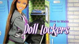 getlinkyoutube.com-DIY - How to Make Doll Lockers BACK TO SCHOOL - Handmade - Doll - Crafts
