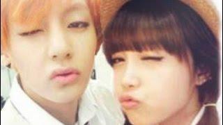 getlinkyoutube.com-BTS V (Kim Taehyung) and Apink Jung Eunji