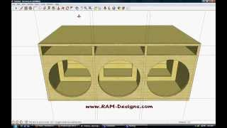getlinkyoutube.com-RAM Designs: Sundown Audio SA-15 Ported Box Design
