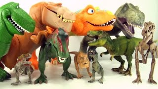 getlinkyoutube.com-10 terrifying tyrannosaurus toys - Dinosaur collection of Tyrannosaurus Rex - T-Rex toys for kids