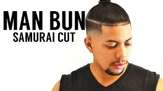 getlinkyoutube.com-💈 Samurai Top Knot (Man-Bun) with Skin Fade💈