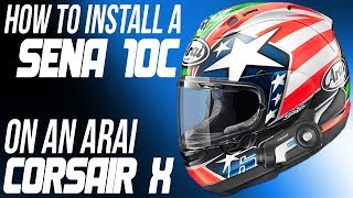 getlinkyoutube.com-How To Install A Sena 10C Communicator on an Arai Corsair X Helmet from Sportbiketrackgear.com