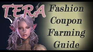 TERA Fashion Coupon Farming Guide - FREE Tera Costumes