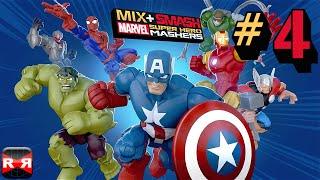 Mix+Smash: Marvel Super Hero Mashers - Spiderman, Iron Man and Captain America Triple Mix Gameplay