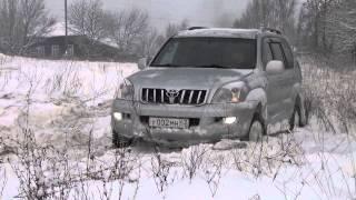 getlinkyoutube.com-Kia Sportage, Toyta Land Kruser Prado,  Нива, Уаз Patriot...по снегу