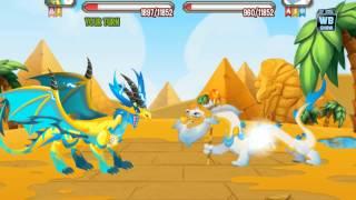 getlinkyoutube.com-Dragon City: All Mummy Quest Battle Dragons [Egyptian Island]