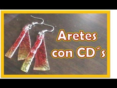 Aretes con CD`s / Reutiliza
