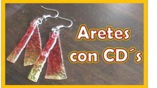 getlinkyoutube.com-Aretes con CD`s / Reutiliza