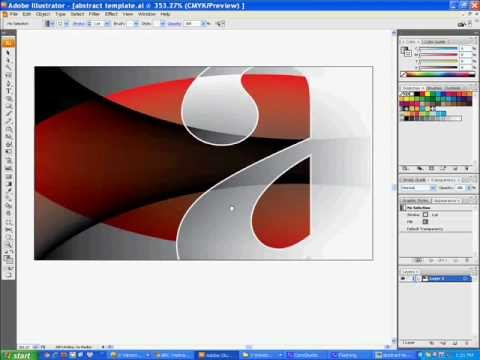 Make abstract background Illustrator