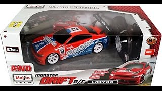getlinkyoutube.com-Maisto Monster Drift RC Car Review