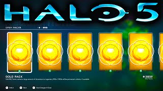 getlinkyoutube.com-HALO 5 GOLD REQ PACK OPENING SPREE (Halo 5 Guardians)