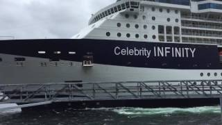 getlinkyoutube.com-Celebrity Infinity slams into Ketchikan Dock 06/03/16
