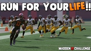 getlinkyoutube.com-Can I Make it Through a BRICK WALL of DEFENDERS WITHOUT ANY BLOCKING?! All New Madden 17 Challenge!
