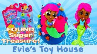 getlinkyoutube.com-12 Pack Splashlings Mermaid and Splashlings Giant Playdoh Egg with Super Treasure   Evies Toy House
