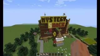 Mystery shack in Minecraft, Хижина чудес в Майнкрафте.