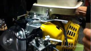 getlinkyoutube.com-How to connect a direct throttle after removing the governor from a go kart engine lawn mower