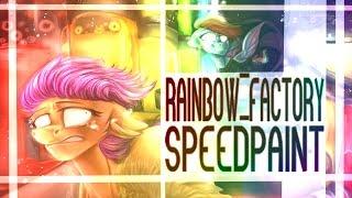 getlinkyoutube.com-MLP SPEEDPAINT - RAINBOW FACTORY REDRAW