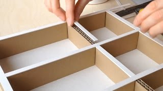 getlinkyoutube.com-DIY How to make a cardboard drawer organizer