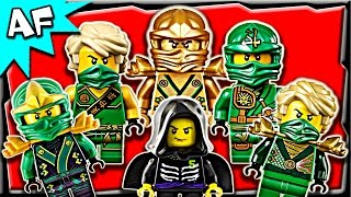 getlinkyoutube.com-Lego Ninjago Lloyd GREEN NINJA Minifigures Complete Collection
