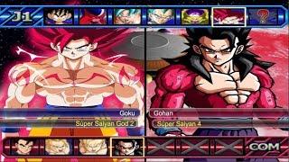 getlinkyoutube.com-Dragon Ball Z Budokai Tenkaichi 3 - Goku Super Saiyan God 2 VS Gohan SSJ 4 Red Potara (1080p)