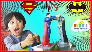 getlinkyoutube.com-Batman Vs Superman Toys Dawn of Justice Batmobile Car Family Fun Game for Kids Ryan ToysReview