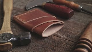 getlinkyoutube.com-Making a Horween Leather Port Wallet with Craft and Lore
