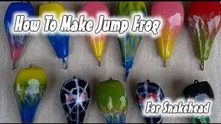 How To Make Lure Using Wood For Snakehead Fish #JUMP FROG   Newbie Tutorial