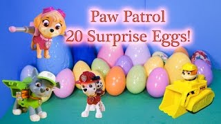 getlinkyoutube.com-PAW PATROL Nickelodeon 20 Surprise Eggs Paw Patrol Surprise Eggs Candy + Toys  Video