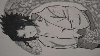 getlinkyoutube.com-Dibujando a Sasuke Uchiha Shippuden