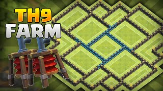 getlinkyoutube.com-CLASH OF CLANS - 2ND AIR SWEEPER! BEST TOWNHALL 9 FARMING BASE! New Update!
