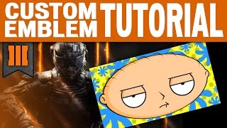 getlinkyoutube.com-Black Ops 3 - CUSTOM EMBLEM TUTORIAL - Stewie (Family Guy)