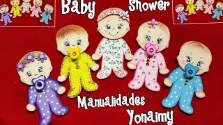BEBES NIÑO Y NIÑA  PARA BABY SHOWER EN FOAMY O GOMA EVA .