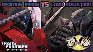 getlinkyoutube.com-Transformers Prime: The Game - Optimus Prime Vs. Megatron - BroBrahs