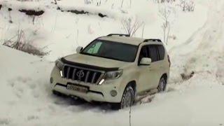 getlinkyoutube.com-Toyota Prado 150 Mitsubishi L200 Ssangyong Kyron Off road Snow