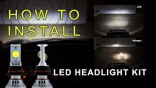 getlinkyoutube.com-LED Headlight How to Install LED headlight Kit  LED Headlight Bulbs Conversion Kit