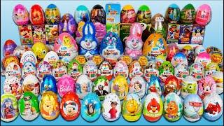 getlinkyoutube.com-100 Jajko Niespodzianka Cars SpongeBob MLP Kinder Niespodzianka Frozen Minionki Mickey TMNT Jajka