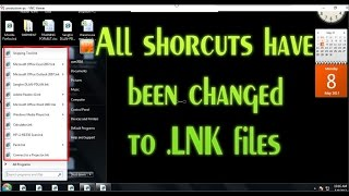 All desktop shorcuts icon have been changed to LNK files - How to Fix