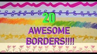 getlinkyoutube.com-20 Ideas for Drawing Borders