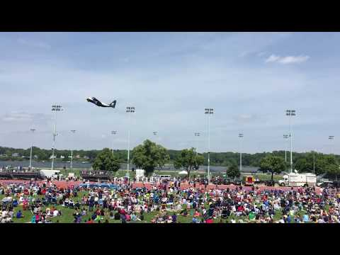 USNA Blue Angels 5-20-2015 (Stationary Video)