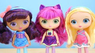 getlinkyoutube.com-Little Charmers Lavender Hazel Posie 8 Inch Dolls Toy Unboxing
