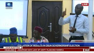 Collation Of Results In Osun Governorship Election Pt.10 |Osun Decides|
